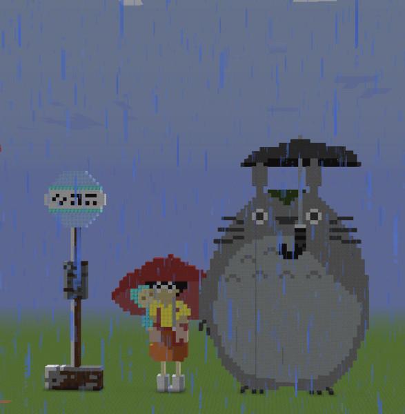 【Minecraft】トトロとさつきとめい【となりのトトロ】