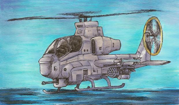 兵装モリモリマッチョマンの攻撃ヘリだ