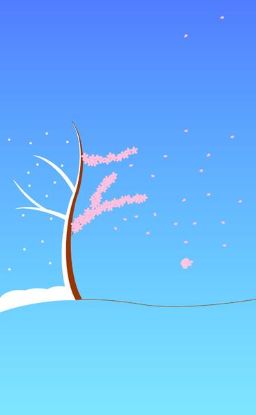 [3.5インチ]iPhone壁紙27[冬から春へ]
