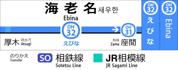 【架空】駅名標ナンバリング一体化【小田急】
