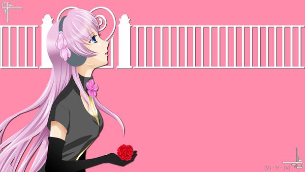 【HD背景】ルカ と 花(2月用)