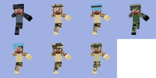 Camouflage Skin Pack