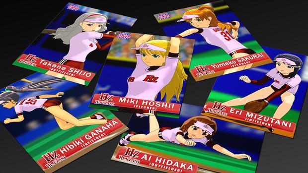 【MMD静画で】MSX版ファミスタの「Hz」チーム2【ユニ再現】