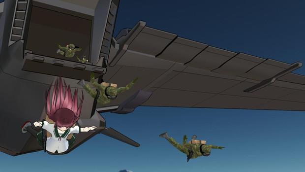 空挺師団、降下せり