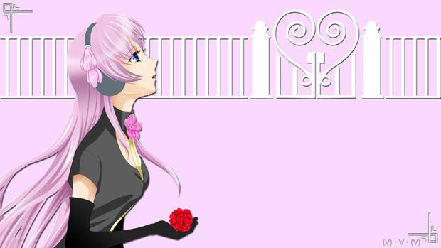 【HD背景】ルカ と 花(4月用)