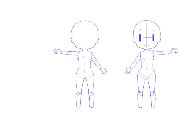 3頭身女性キャラ素体 ぷっちゃー さんのイラスト ニコニコ静画