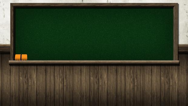 【背景素材】黒板背景1280x720 黒板消し付き