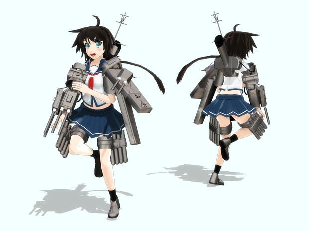 【MMD艦これ】古鷹型2番艦 加古【モデル配布】
