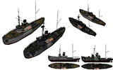 MMD用モブ多用途艇1945セット