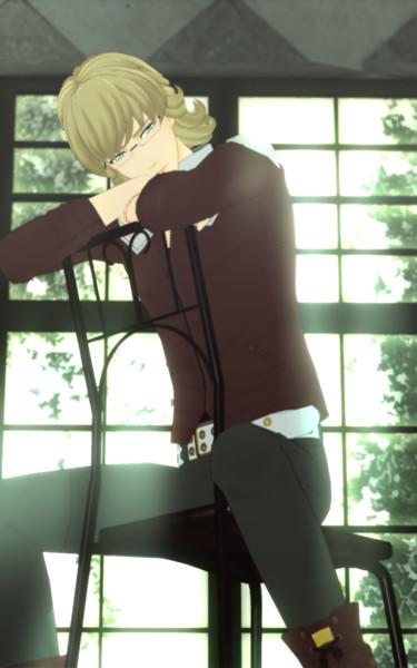 ばにーちゃんと椅子♥