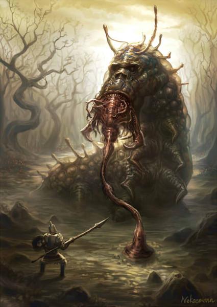 毒沼の怪獣