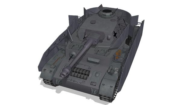 IV号戦車F/G型【MMDモデル配布】