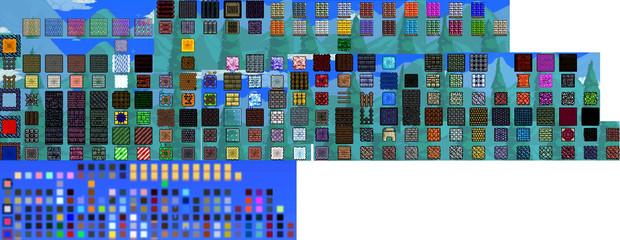 【テラリア】PS3版1.2Ver ブロックパレット 修正