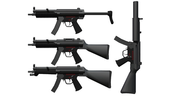【MMDモデル、アクセサリ配布あり】MP5RASとか固定ストックとか