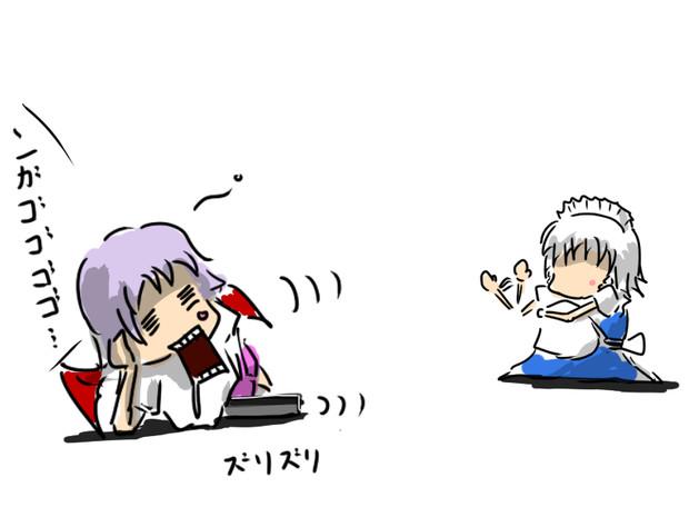 咲夜さん「(…頑張れ)」