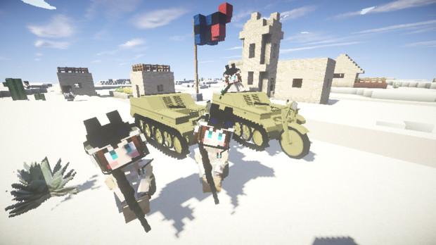 【Minecraft】砂漠偵察【MCヘリコプターMOD】