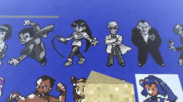 【マイクラ】初代ポケモン キョウ、ナツメ、カツラ、サカキ【ドット絵】