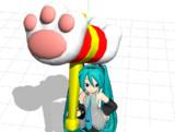 【MMDモデル配布】猫ハンマー【肉球でニャー!】