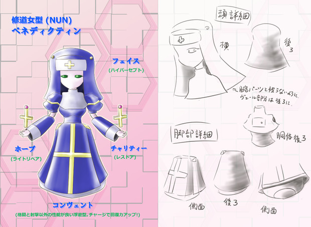 修道女型(NUN)ベネディクティン