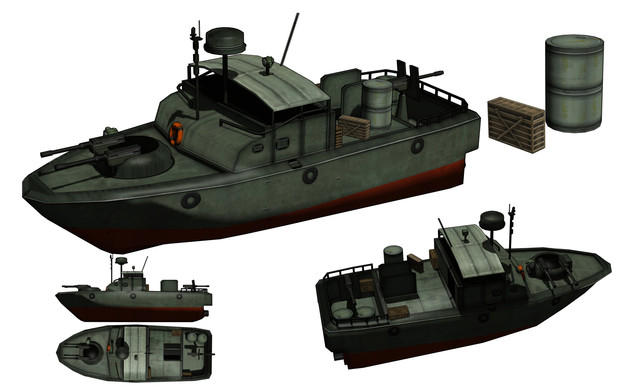 MMD用モブ河川哨戒艇セット / Tansoku102cm-沼地人 さんのイラスト ...