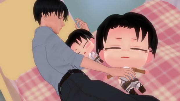 3人でおやすみ