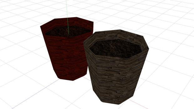 ローポリ植木鉢