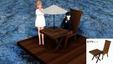 木製テーブル・椅子セット配布