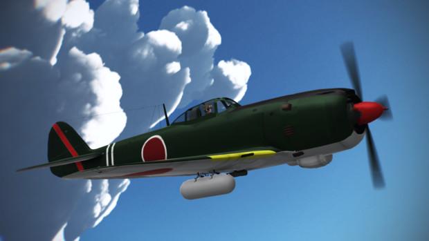 【MMD】見よ かの蒼空に【四式戦闘機 疾風】