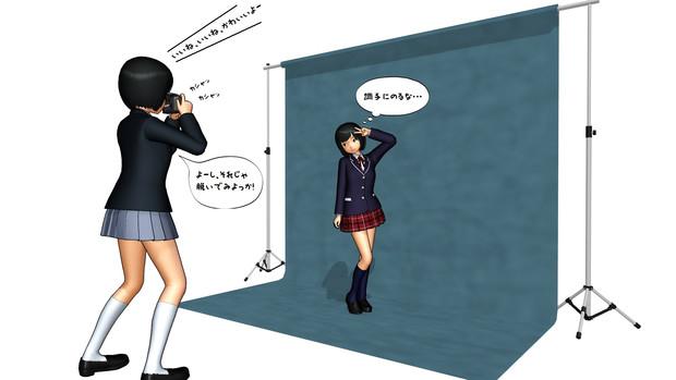 【MMD】撮影用背景スタンド