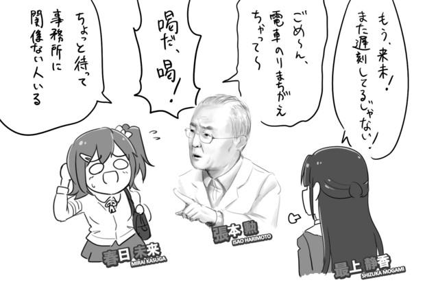 ミリオンライブの事務所に張本さんが来たら