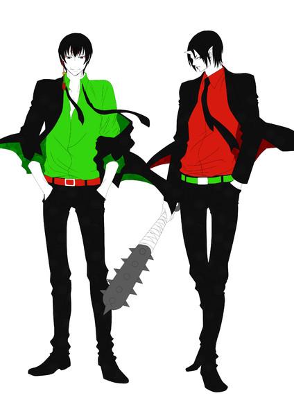 黒スーツ★神獣&鬼