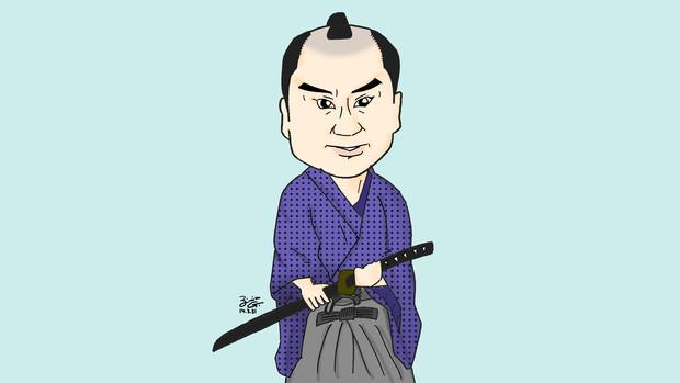 【アンジェラアキ全国ツアーMC用似顔絵】里見浩太朗さん
