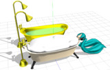 【MMDモデル配布】洋風バスタブ【こうゆうお風呂ってどこで入れるの?】