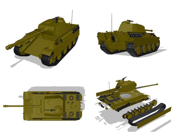 【MMD陸軍】 パンターG型1.5