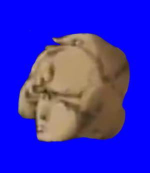 謎の美人烈風隊士の石像BB