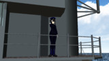 【MMD艦これ】出撃する機を艦橋から見送る弱音ハク提督