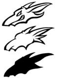 竜のロゴ 3種