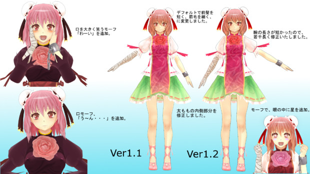 茨木華扇 改変モデルVer1.2に更新しました。