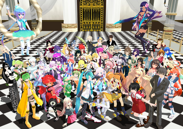 VOCALOID ALL STAR in MMD(2014ver)