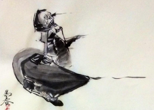 水墨画レ級 たかはる さんのイラスト ニコニコ静画 イラスト