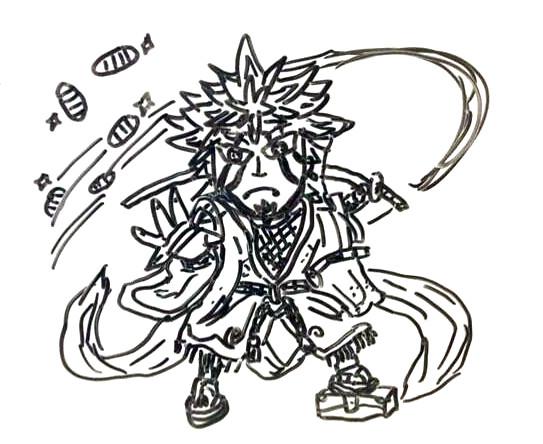 パズドラ石川五右衛門手書き アストラ さんのイラスト