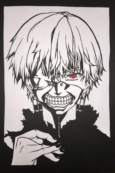 切り絵東京喰種 白カネキ Aaaaa さんのイラスト ニコニコ静画