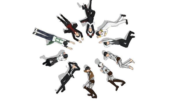 寝ているポーズ集 Ageha さんのイラスト ニコニコ静画 イラスト