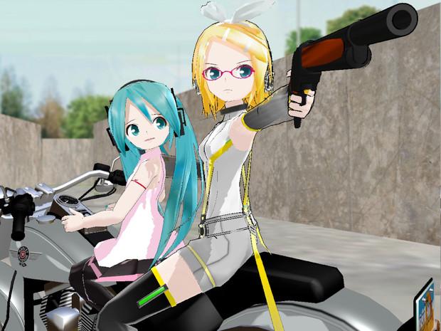 【MMD】ミク・コナー & R-800