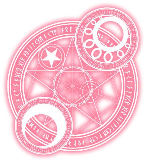 魔法陣2-ピンク