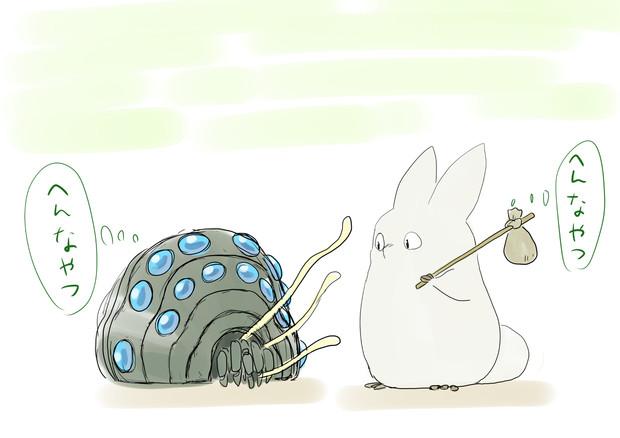 小トトロと王蟲の探検 出会い えぼし Eboshi さんのイラスト
