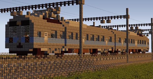 夕方の普通列車【Minecraft】