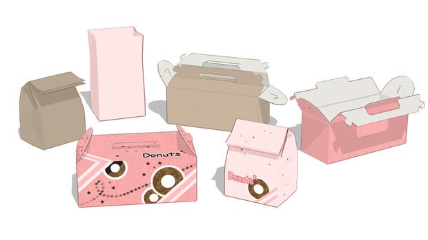 【MMDアクセサリ配布】紙袋・紙箱