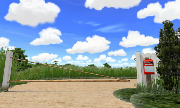 【MMDステージ配布】アニメの背景風スカイドーム2
