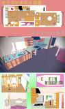 【MMDステージ配布】女子力が上がる部屋ステージ